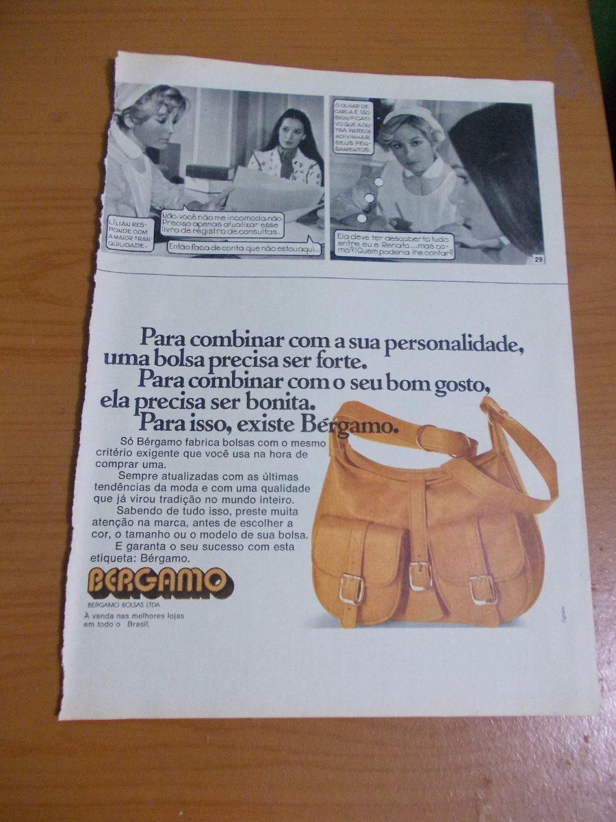 a2ca984d4 Propaganda Antiga - Bérgamo Bolsas - R$ 20,00 em Mercado Livre