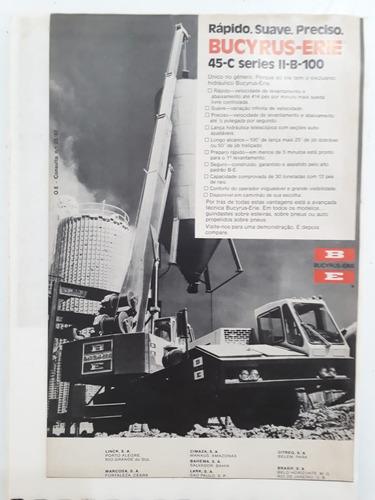 propaganda antiga bucyrus-erie 45-c séries ll-b-100 raro