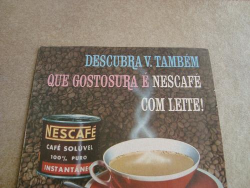 propaganda antiga café nescafé 1961 nestlé leite chocolate