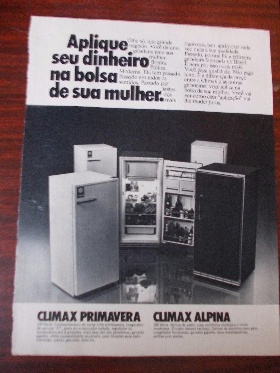 863b7f222 Propaganda Antiga - Climax Geladeira. Primavera, Alpina - R$ 20,00 ...