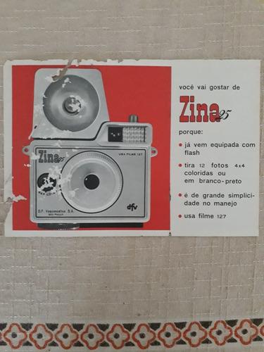 propaganda antiga câmera máquina fotográfica dfv zina 25 rar