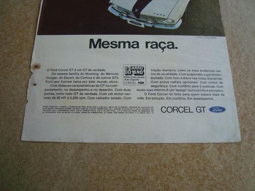 propaganda antiga ford corcel gt xp 1969 belina del rey