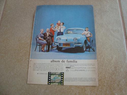 propaganda antiga gordini 1963 willys dauphine renault 1