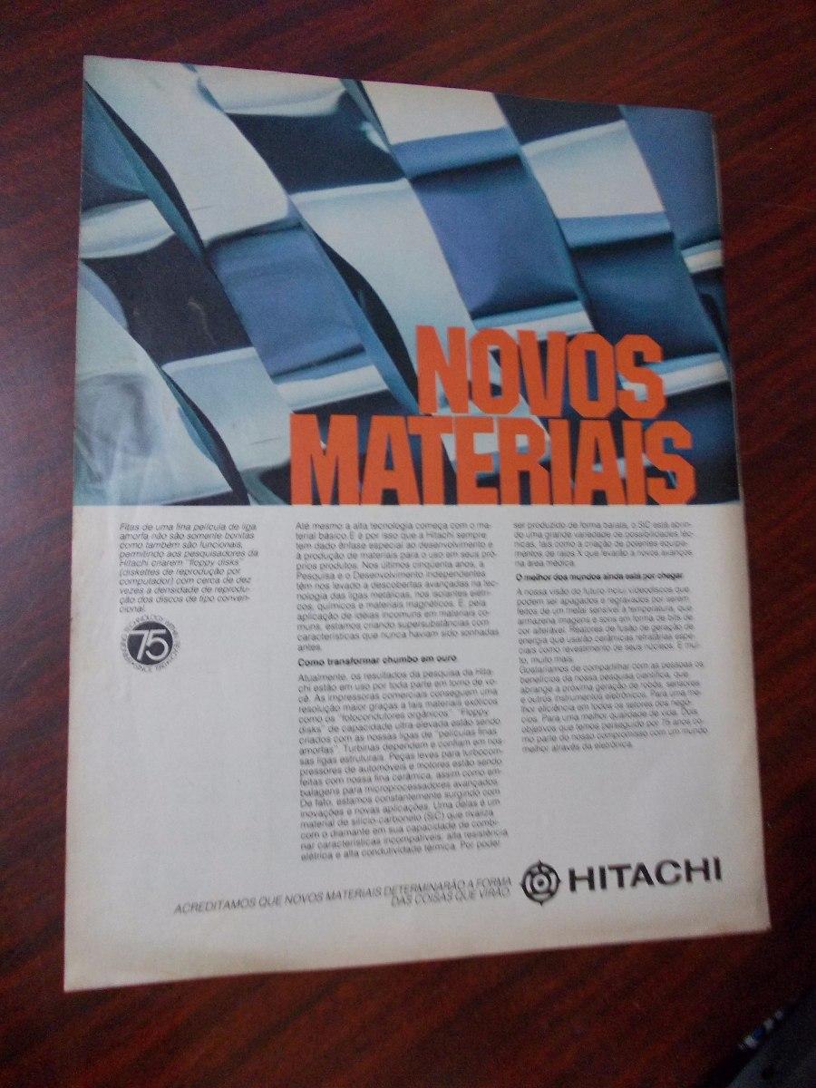 6e66045ce Propaganda Antiga - Hitachi/ Atlantic F-1 Super/ Bolsas Ika - R$ 20 ...