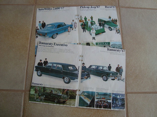 propaganda antiga linha willys 1967 rural f-75 jeep gordini