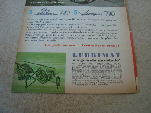 propaganda antiga sorteio dkw vemag belcar vemaguet 1965