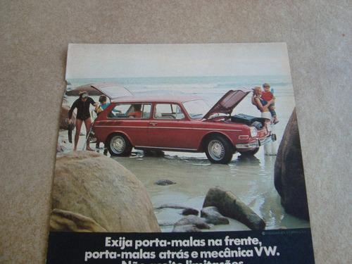 propaganda antiga variant 1970 tl fusca kombi sp-2 2