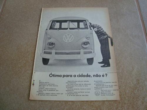 propaganda antiga vw kombi 1966 1300 1500 fusca brasilia 1