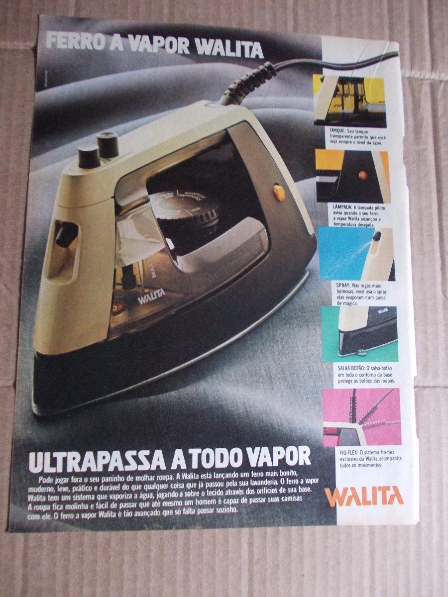 f061b2dff Propaganda Antiga - Walita. Ferro A Vapor  Elite. Calção Do - R  20 ...