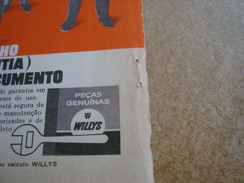 propaganda antiga willys peças originais 1963 f-75 rural 1