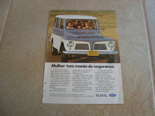 propaganda antiga willys rural 1970 ford 6cc