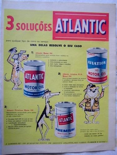 propaganda atlantic publicação revista o cruzeiro.
