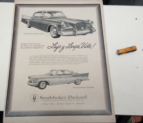 propaganda de época linha studebaker 1957 frete gratis