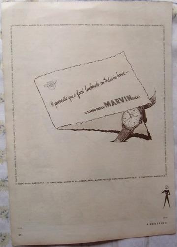 propaganda relógio marvin publicação revista o cruzeiro.