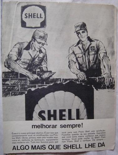 propaganda shell  publicação revista o cruzeiro.