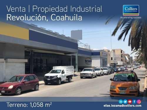 propiedad industrial en venta, boulevard rev. coahuila.
