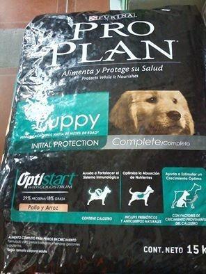 proplan puppy cachorro  complete 15kg   optistar