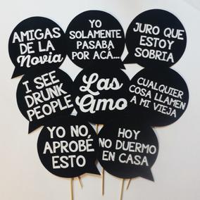 Props Carteles Foto Frases Emojis Fiesta Cumple