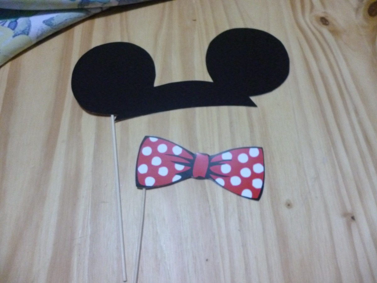 Props Carteles Frases X 20 Unidades Mickey Minnie