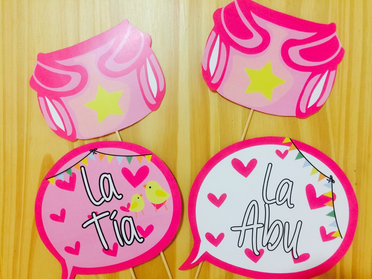 Excellent Excellent Props Carteles Frases X Unidades Baby Shower Nia  Cargando Zoom Medustfo Gallery With Ideas Para Baby Shower Nia With Ideas Para  Baby ...