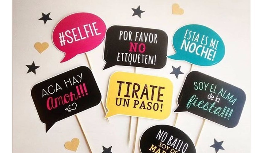 Props Frases Personalizadas Foto Selfie Cartelitos Fiesta