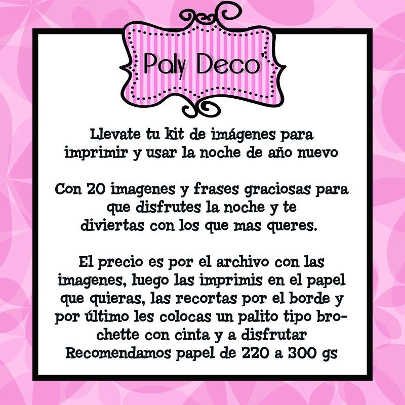 Props Photo Kit Imprimible Fin De Año Nuevo Fiestas Palydeco