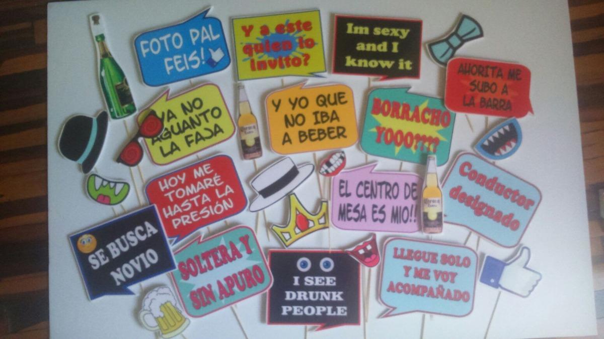 Props Photobooth Boda Hora Loca Fiestas Marcos Selfies Y Mas - S/ 3 ...