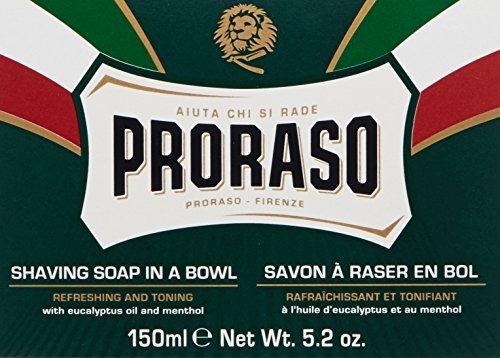 proraso jabón de afeitar en un bol - refresco, 5,2 oz