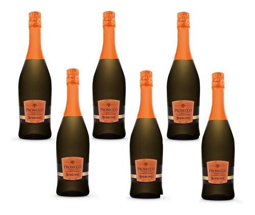 prosecco sperone caja x 6 botellas d.o.c. brut italiano