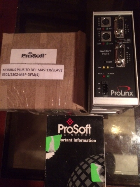 Prosoft Modbus Plus To Df1 -5301-5302-mbp-dfm