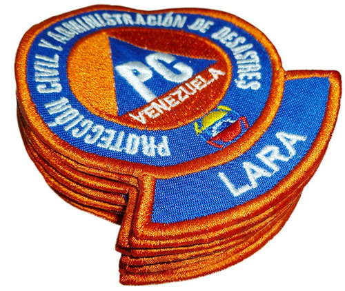 protección civil combo pack de 12 insignias bordadas.