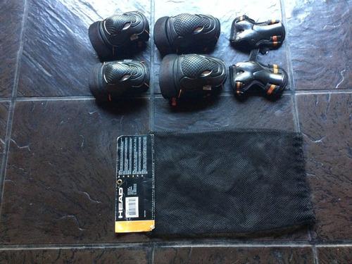 protecciones head skate rollers juego de 3 piezas