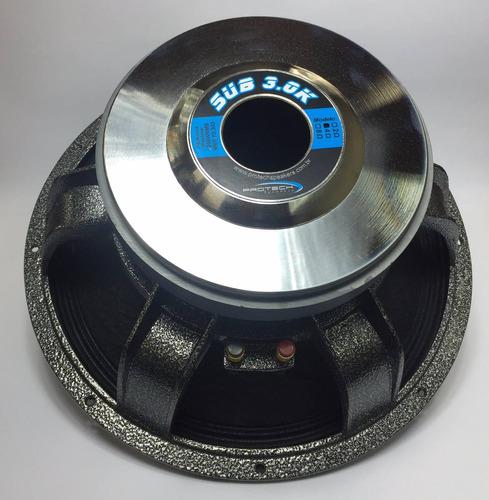 protech sub 3k -1500wrms - 15 - subwoofer pa / trio elétrico
