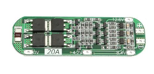 proteção 3s bms para 3x baterias 18650 li-ion 20a