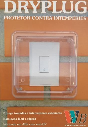 proteção p/ tomada/ interruptor/ pulsador campainha instalados caixas 4 x 2 em área externa- dryplug simples - westaflex