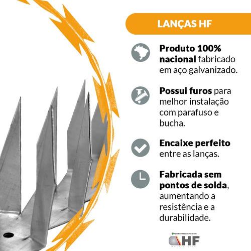 proteção para muro lança dupla kit 10 metros perfurante