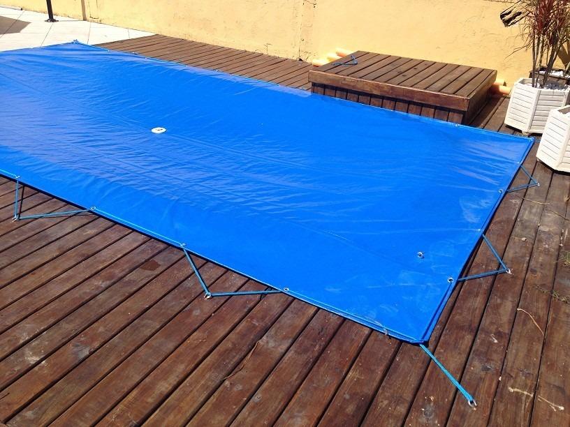 Prote o para piscina 9 2x4 6 lona forte r 677 00 em for Piscina desmontable 2x4