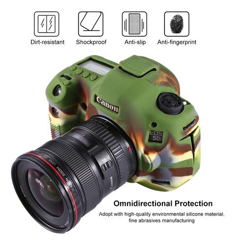 protective case puluz soft silicone para canon eo 5d c1xz