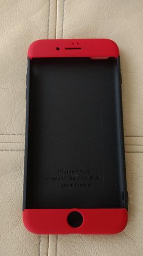 protector 3 piezas iphone 7 plus hibrido color mate