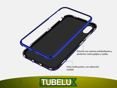 protector 360 magnetico doble vidrio samsung a10s a20s a50s