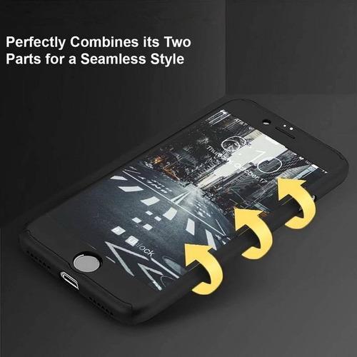 protector 360 y mica de vidrio  para iphone 6, 6s.