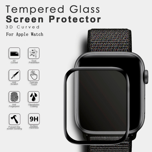 protector 3d templado 9h apple watch  38/40/42/44mm