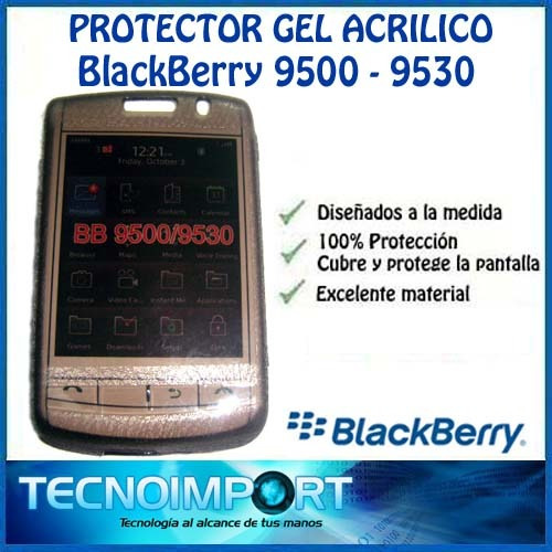 protector acrigel blackberry 9500 / 9530 - cubre la pantalla