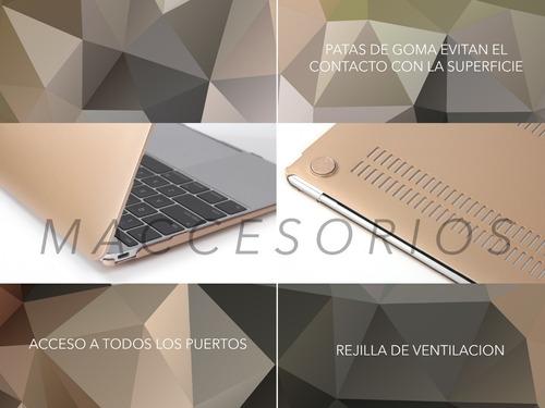 protector acrilico estilo metalizado - macbook pro retina 13