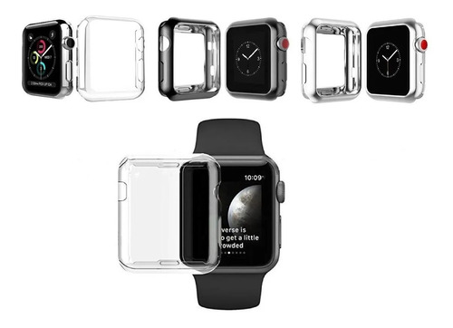 protector acrilico negro apple watch 38mm 40mm 42mm 44mmm