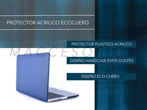 protector acrilico textura ecocuero - macbook pro retina 13