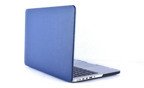 protector acrilico textura ecocuero - macbook pro retina 15