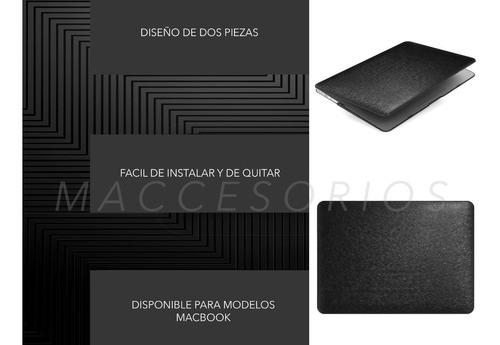 protector acrilico textura seda - macbook pro air retina