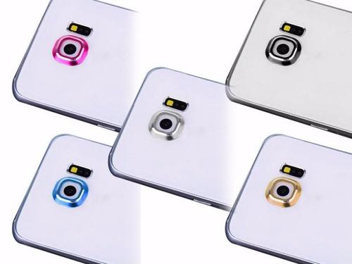 protector aluminio cámara samsung s6 y s6 edge anillo aro