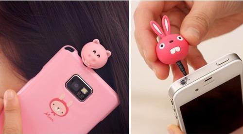 protector auricular 3.5mm jack iphone 4 4s 5 5s 5c en stock